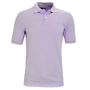 View Item Adidas Essential CR 3Stripe Polo Shirt Purple Lavender Mens Size