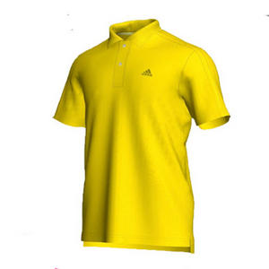 View Item Adidas Essential CR 3Stripe Polo Shirt Lemon Yellow Mens Size