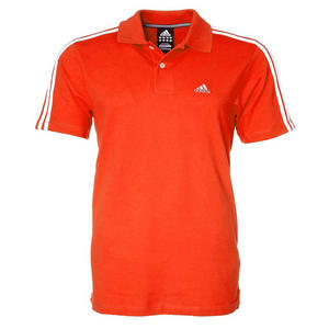 View Item Adidas Essentials 3Stripe Polo Shirt Core Orange Mens Size