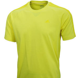 View Item Adidas Essentials Clima365 3S Crew Neck T-Shirt Yellow Mens Size