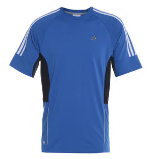 View Item Adidas Essentials 3S Crew Neck T-Shirt Royal Blue/White Mens Size