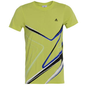 View Item Adidas Essentials Chrome Graphic Crew Neck T-Shirt Yellow Mens Size