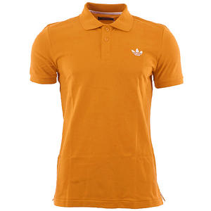 View Item Adidas Originals Adi Basic Polo Shirt Tangerine Orange  Mens Size