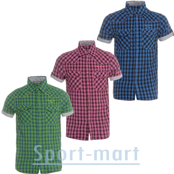 Soul Star Mobo Stylish Slim Fit Check Casual Shirt Mens Size Preview