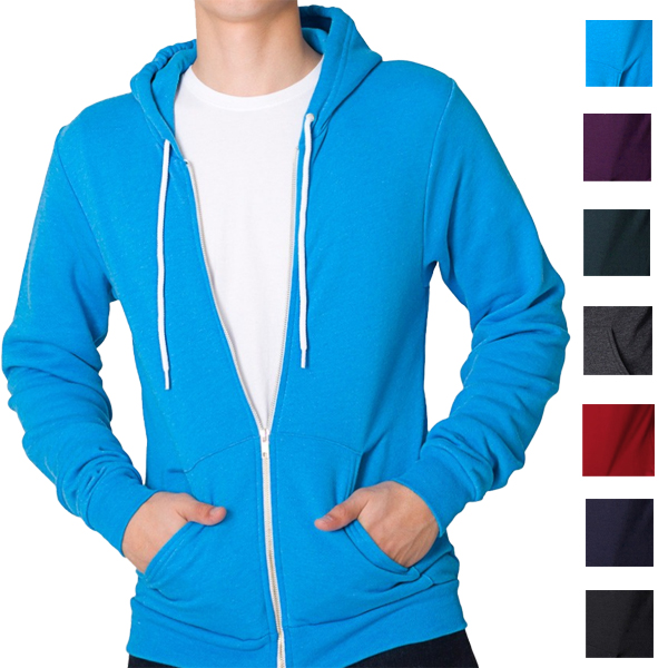 Soul-Star-Apparel-Flex-Fleece-Full-Zip-Hoody-Hooded-Top-Hoodie-Mens-Size