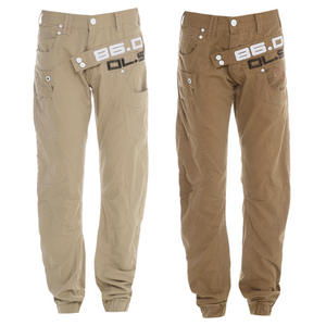 View Item Daniel Lei Cuffed Regular Fit Chinos Trousers Jeans Mens Size