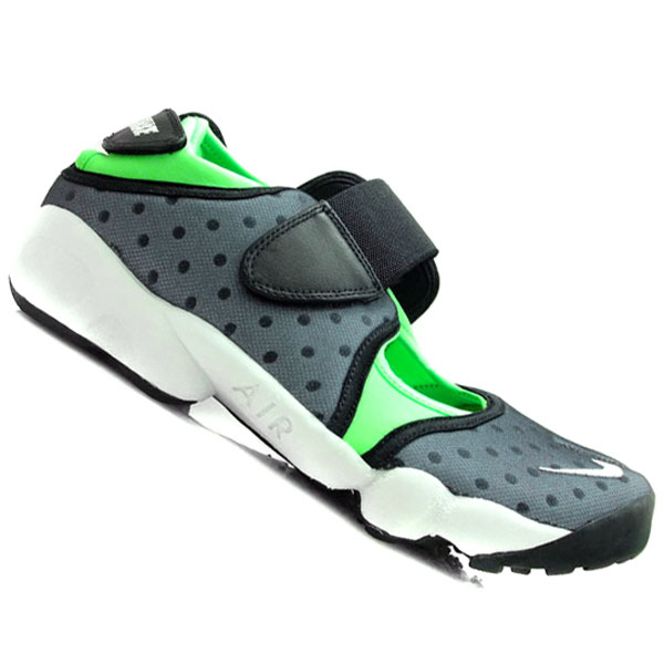Nike Air Rift Black/White/Lime Green Trainers Sandals Mens Size Enlarged Preview