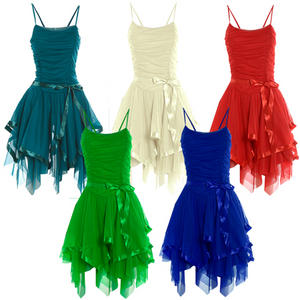 View Item Strappy Chiffon Evening Cocktail Prom Dress