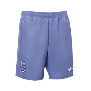 View Item Umbro Official England Woven Football Training Shorts Indigo Blue Mens Size