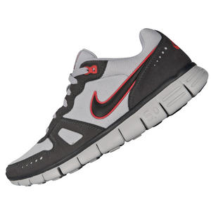 View Item Nike Free Waffle Running Trainers Grey/White/Crimson Mens Size