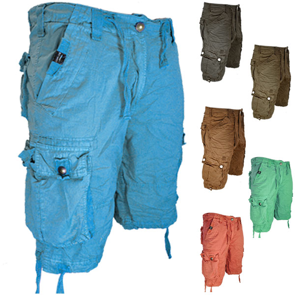 55Soul Mixture Summer Multi Pocket Cargo Combat Shorts Mens Size Enlarged Preview