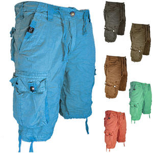 55Soul Mixture Summer Multi Pocket Cargo Combat Shorts Mens Size