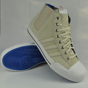 View Item Adidas Originals AO Toss Hi Trainers Light Clay/White Mens Size