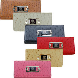 View Item Ladies Ostrich Leather LYDC Designer Womens Evening Purse Wallet