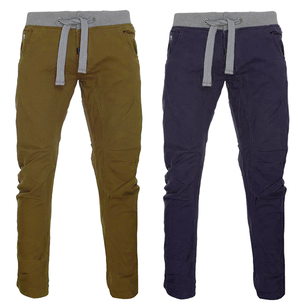 55Soul Cargo Cuffed Combat Crotch  Jeans Chino Trousers Pants Mens Waist Size Preview