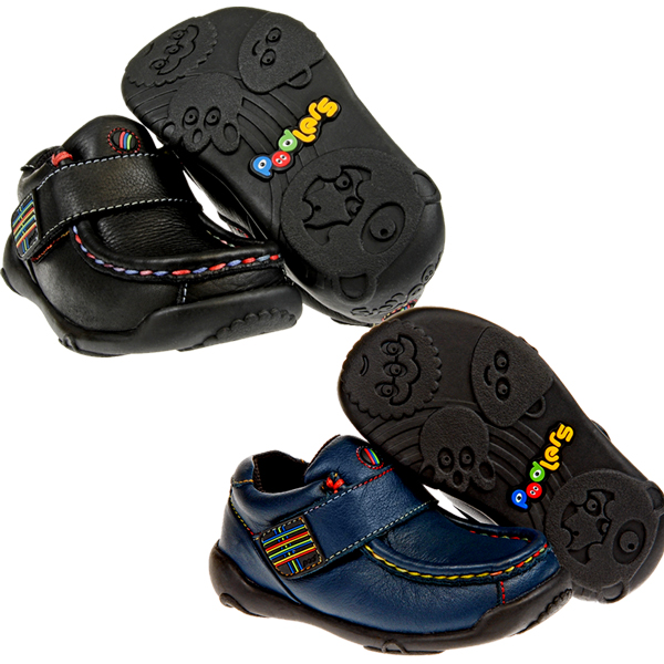 Podlers Pluto Leather Rainbow Stitch Velcro Casual Shoes Kids Boys Size Preview