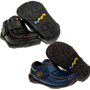 View Item Podlers Pluto Leather Rainbow Stitch Velcro Casual Shoes Kids Boys Size
