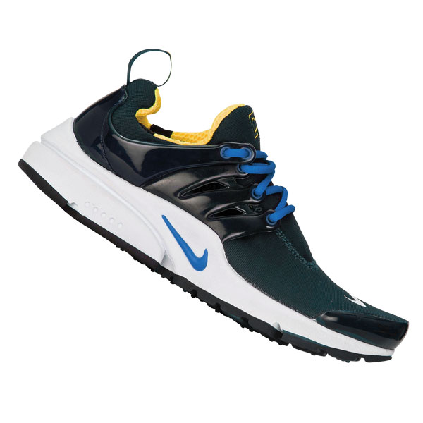 Nike Air Presto Running Trainers Dark Grey/White/Blue Womens Size