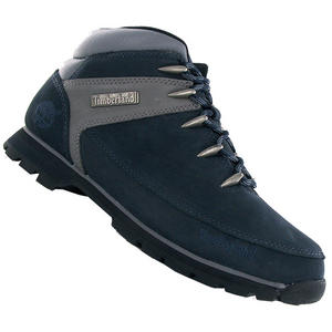 View Item Timberland Euro Sprint 27576 Hiker Leather Boots Navy Blue Mens Size