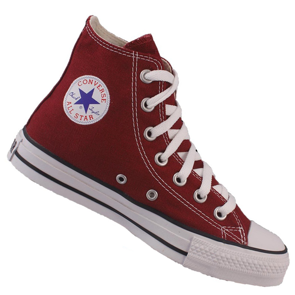 Converse All Star HI Canvas Pumps Trainers Shoes Maroon
