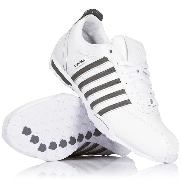 k swiss arvee 1 5 low trainers white castle grey mens size. Black Bedroom Furniture Sets. Home Design Ideas