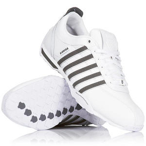 View Item K-Swiss Arvee 1.5 Low Trainers White/Castle Grey Mens Size 6 to 11