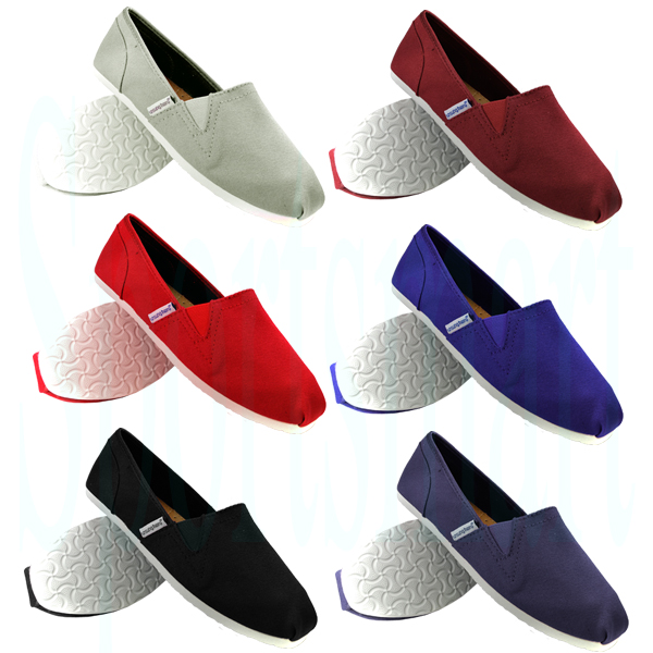 Unsung Hero Canvas PlimSolls Espadrilles Slip On Pumps Trainers Mens Size Enlarged Preview