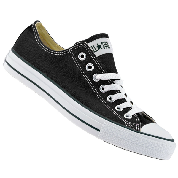 Converse All Star OX Low Canvas Pumps Trainers Shoes Black/White Size Preview