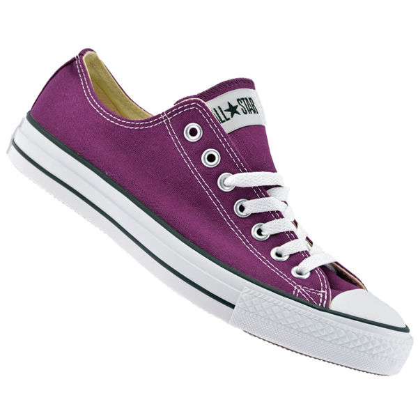 Converse All Star OX Low Canvas Pumps Trainers Shoes Purple/White Size
