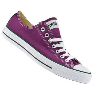 View Item Converse All Star OX Low Canvas Pumps Trainers Shoes Purple/White Size