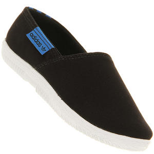 View Item Adidas AdiDrill Canvas PlimSolls Espadrilles Pumps Trainers Black Womens Size