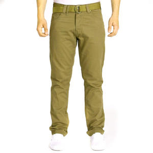 Smith & Jones Eastwood Belted Chino Jeans Trousers Taupe Mens Waist Size