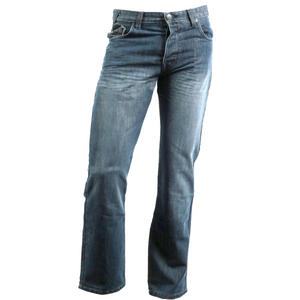 View Item Enzo EZ17 Regular Fit, Straight Leg Dark Denim Blue Jeans Mens Waist Size