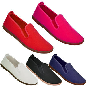 View Item Lee Canvas Ella Stretch Flexi Pumps PlimSolls Slip On Flats Trainers Womens Size