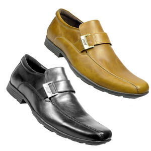 View Item Pod Stirling Slip On Formal Shoes Leather Trainers Mens Size