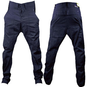 View Item Soul Star Drop Crotch Carrot Fit Cuffed Chinos Trousers Dark Navy Mens Size