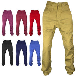 View Item Raiken Double Waist Drop Crotch Regular Fit Chinos Jeans Trousers Mens Size