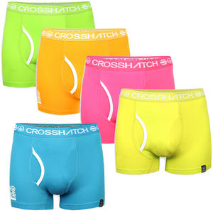View Item Crosshatch Glowbag Plain Boxer Shorts Trunks Underwear Mens Size S - XL