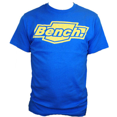 Bench Kirsty Printed Logo T-Shirt Royal-Blue Mens Size Preview