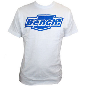 View Item Bench Kirsty Printed Logo T-Shirt White Mens Size