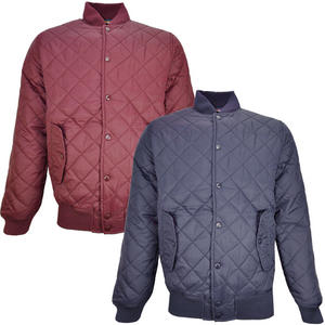 View Item Brave Soul Adder Quilted Padded Bomber Jacket Mens Size S-XL