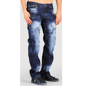 View Item Kosmo Lupo KM406 Faded Designer Jeans Blue Mens Waist Size W30 - W36