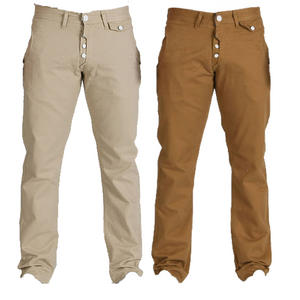 View Item Crosshatch Senior Curve Pocket Chino Carrot Cut Jeans Mens Waist Size W30 - W38