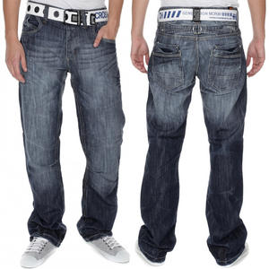 View Item Crosshatch Hornet Straight Leg Dark Wash Blue Jeans Mens Waist Size W30 - W38