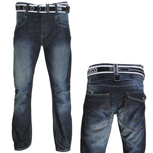 View Item Crosshatch Vertigo Straight Leg Dark Tint Wash Blue Jeans Mens Waist Size W30-38