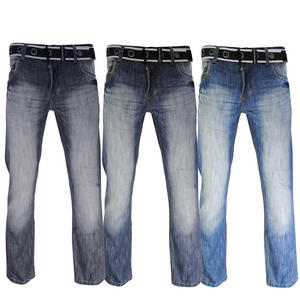 View Item Crosshatch Wak Straight Leg Wash Blue Denim Jeans Mens Waist Size W30 - W38