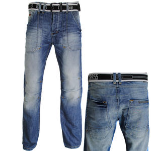 View Item Crosshatch Russia Straight Leg Blue Denim Jeans Mens Waist Size W30 - W38