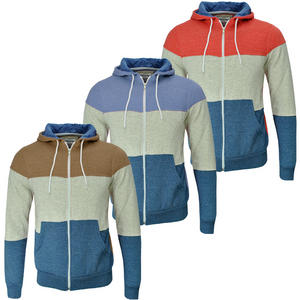 View Item Soulstar Olympic Striped Block Full Zip Hoody Sweatshirt Top Mens Size S M L XL
