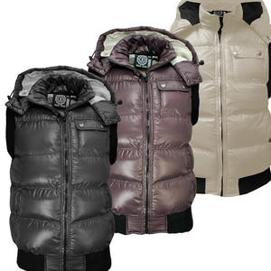 Soulstar Stone Quilted Padded Bodywarmer Hooded Gilet Jacket Mens Size S-XL