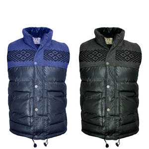 View Item Soulstar Rest Quilted Padded Bodywarmer Aztec Print Gilet Jacket Mens Size S-XL